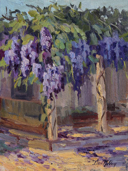 Wall Art - Painting - Wisteria In Bloom by Diane McClary