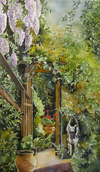 Painting - Wisteria In Blooms by Alfred Ng