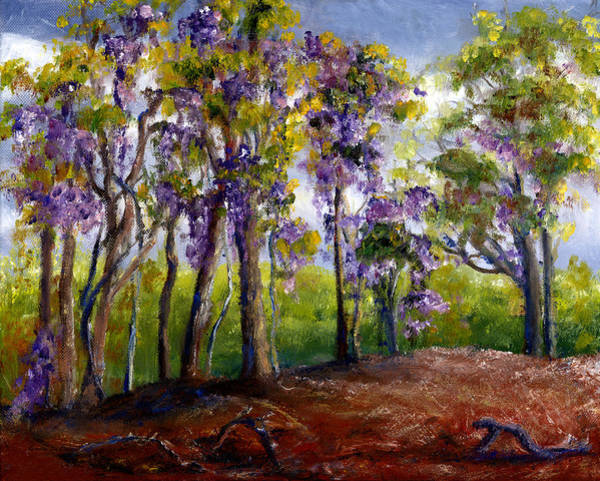 Painting - Wisteria In Louisiana Trees by Lenora  De Lude