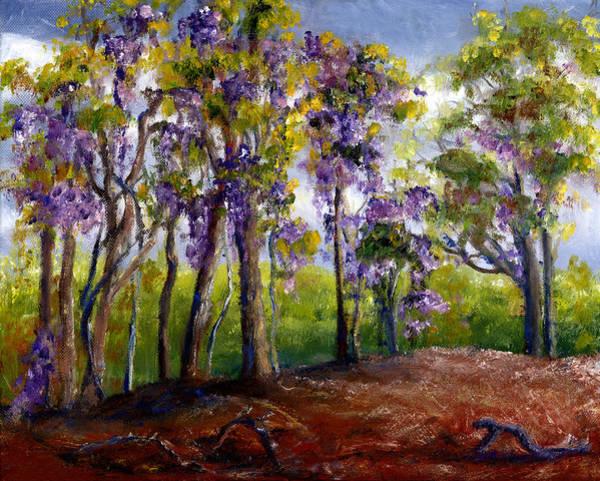 Wisteria In Louisiana Trees Art Print