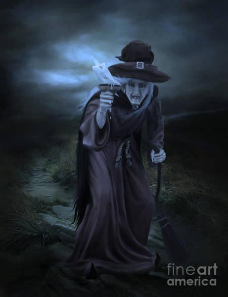 Cloak Digital Art - Witch Blue by Lynn Jackson