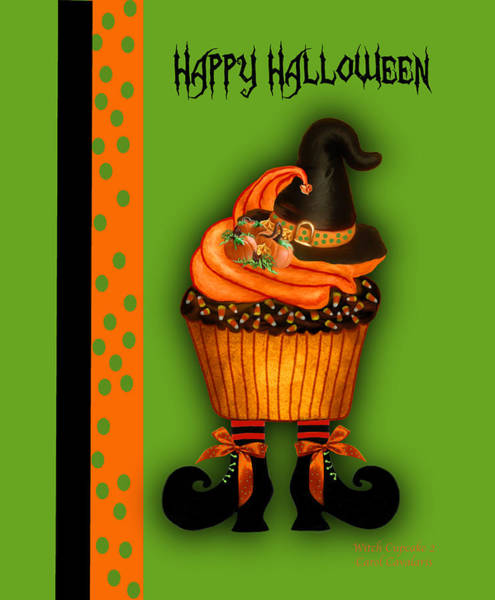 Mixed Media - Witch Cupcake 3  by Carol Cavalaris