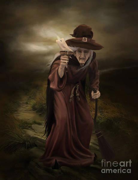 Cloak Digital Art - Witch Green by Lynn Jackson