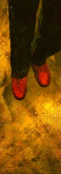 Painting - Witch Walking by RC DeWinter
