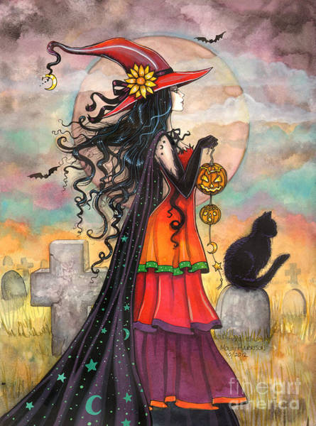 Wiccan Painting - Witch Way by Molly Harrison