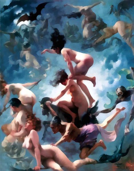 Boudoir Digital Art - Witches Going To Their Sabbath by Luis Ricardo Falero