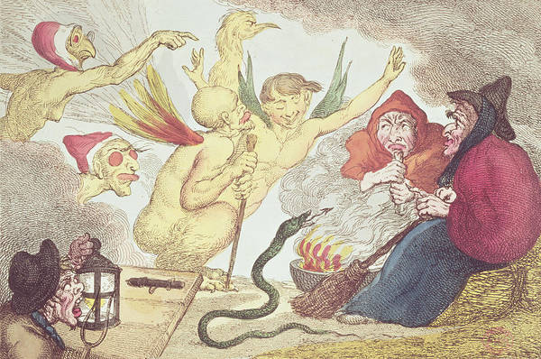 Serpent Photograph - Witches In A Hayloft Engraving by Thomas Rowlandson