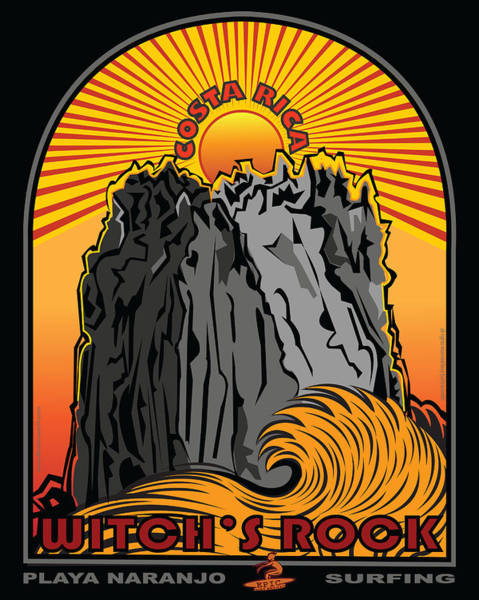 Wall Art - Digital Art - Surfing Witch's Rock Costa Rica Playa Naranjo by Larry Butterworth
