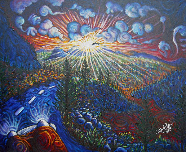 Flagstaff Painting - With A New Dawn Hope by Steve Lawton
