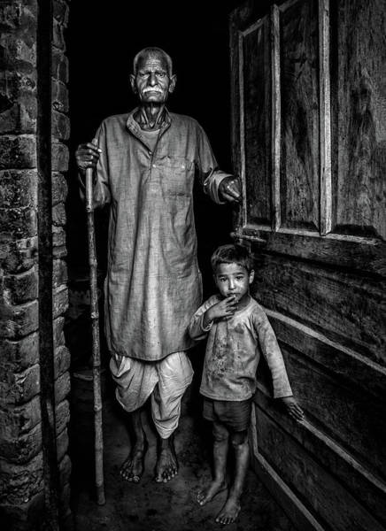 Young Man Wall Art - Photograph - With Grandfather by Saeed Dhahi