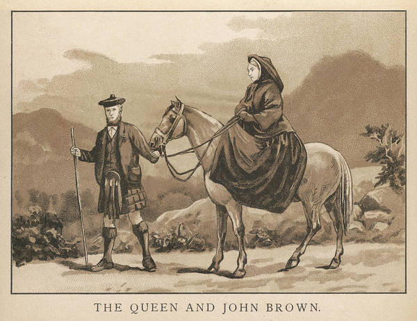 Wall Art - Drawing - With John Brown  Victoria by Mary Evans Picture Library