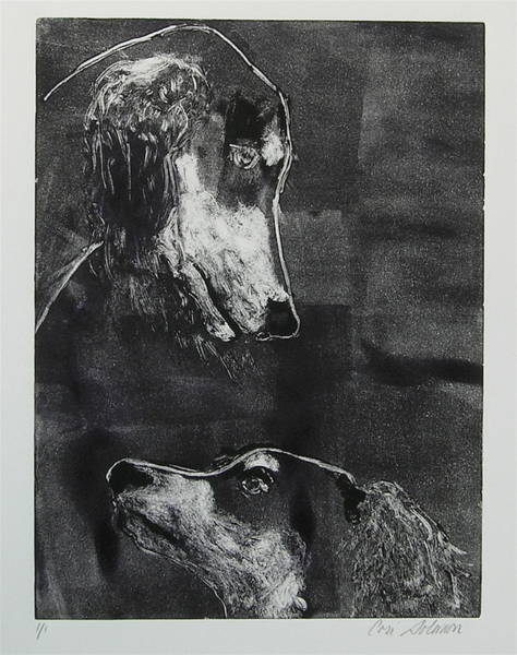 Sighthound Mixed Media - With Love by Cori Solomon