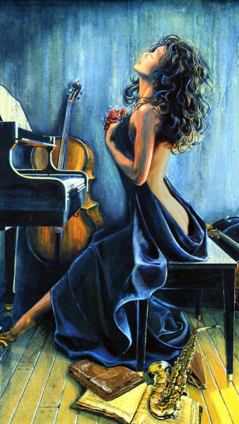 Grand Piano Painting - Passion For Music by Hanne Lore Koehler