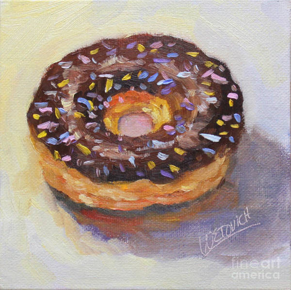 Doughnut Painting - With Sprinkles by Carol Wetovich