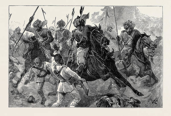 Wall Art - Drawing - With The Indian Contingent In Egypt Bengal Lancers Pursuing by Egyptian School
