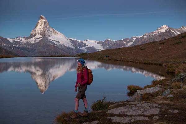 Knit Hat Photograph - With The Matterhorn In The Background by Menno Boermans