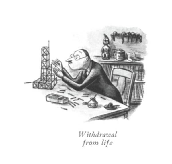 Daily Life Drawing - Withdrawal From Life by William Steig