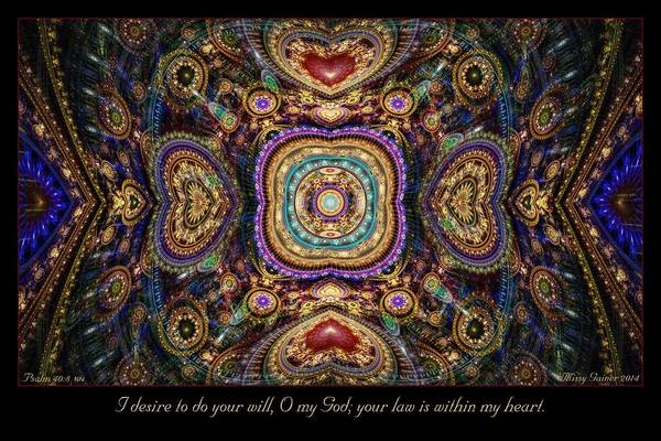 Digital Art - Within My Heart by Missy Gainer