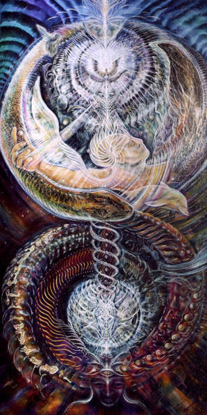 Double Helix Painting - Withinfinite Passage by Jerod Kytah