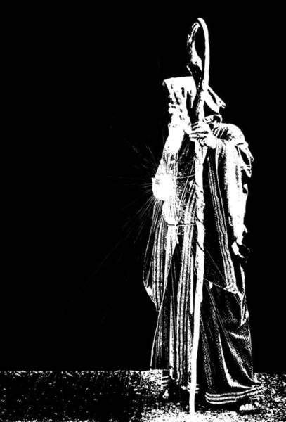 Photograph - Wizard In Pure Bw by Kristin Elmquist