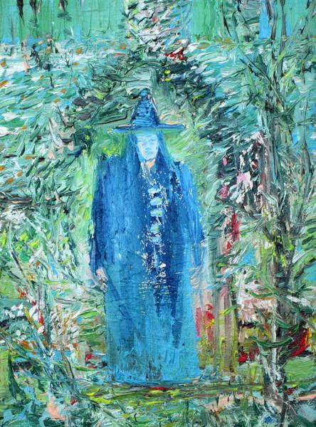 Wizard Hat Wall Art - Painting - Wizard In The Garden by Fabrizio Cassetta