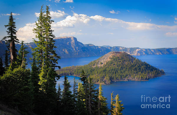 Crater Lake Photograph - Wizard Island by Inge Johnsson