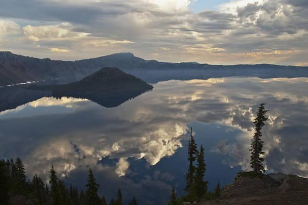 Photograph - Wizard Island Reflection by Lee Kirchhevel