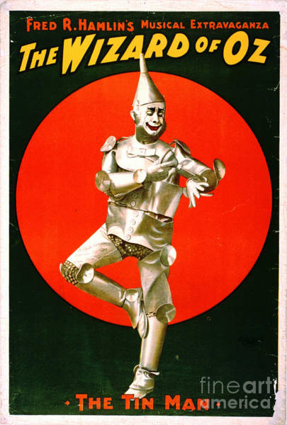 Revue Photograph - Wizard Of Oz - Tin Man 1903 by Padre Art