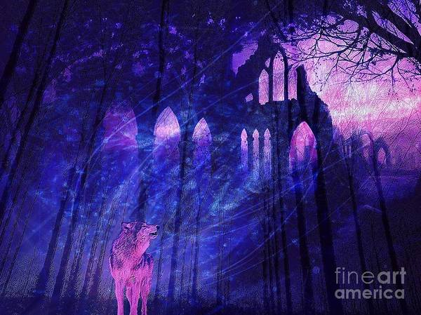 Digital Art - Wolf And Magic by Jessie Art