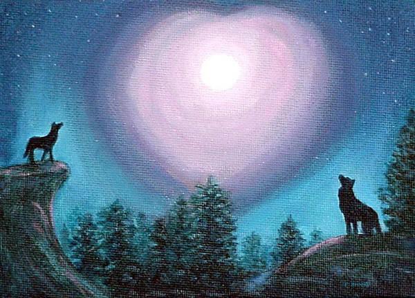 Wolf Heart Song Art Print