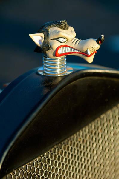 Rat Rod Wall Art - Photograph - Wolf Hood Ornament by Jill Reger