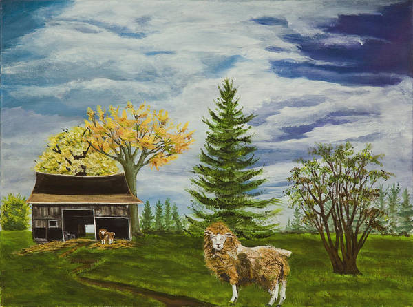 Cape May Painting - Wolf In Sheeps Clothing by Susan Culver