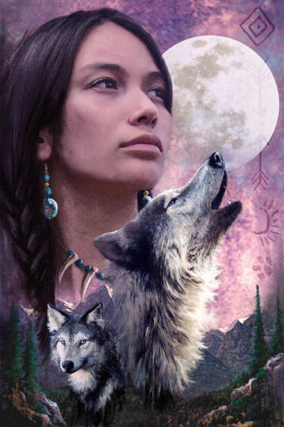Forest Spirit Wall Art - Photograph - Wolf Montage by MGL Meiklejohn Graphics Licensing