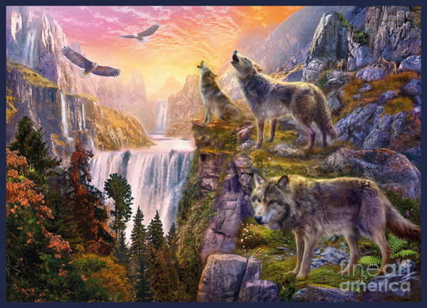 Pack Digital Art - Wolf Sun by MGL Meiklejohn Graphics Licensing