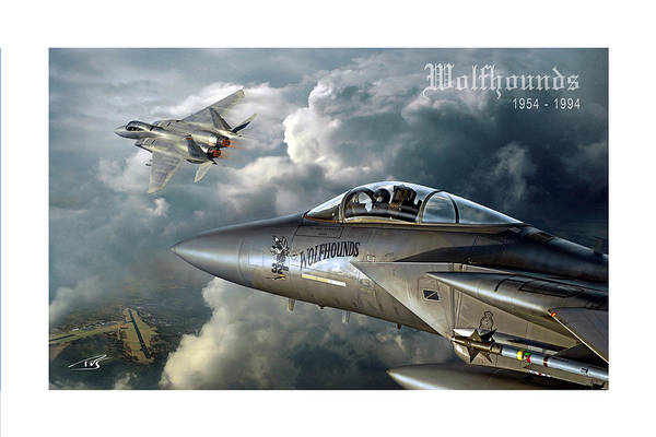 Mcdonnell Douglas Digital Art - Wolfhounds by Peter Van Stigt