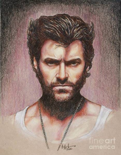 Wolverines Drawing - Wolverine by Christine Jepsen