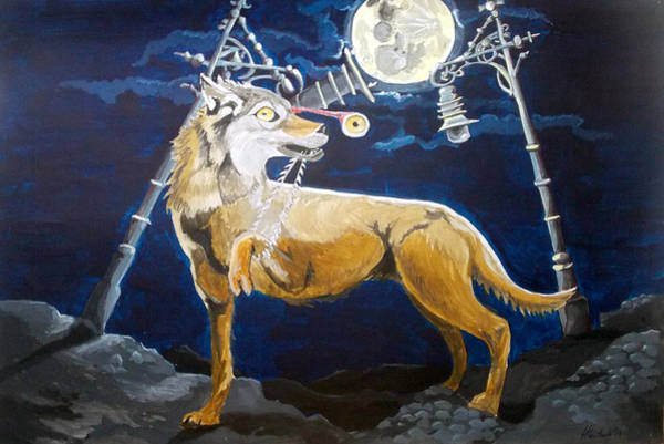 Wall Art - Painting - Wolves Mouth  by Lazaro Hurtado