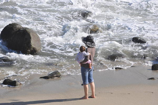 130596b4ce La Jolla Cove Photograph - Woman And Baby by Pamela Schreckengost