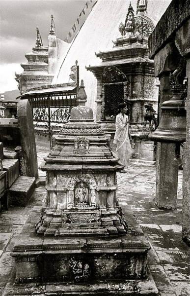 Photograph - Woman At Swayambhu by Kim Pippinger