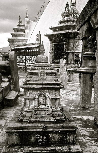 Woman At Swayambhu Art Print