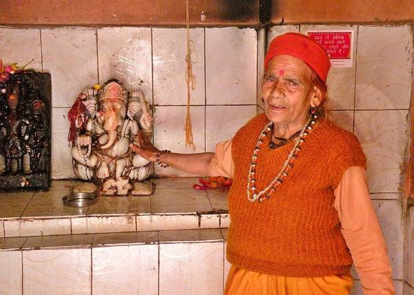Photograph - Woman Sadhu At The Ganesh Temple by Kim Bemis