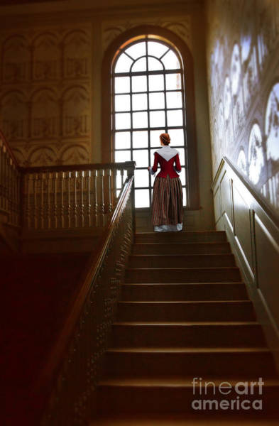 Wall Art - Photograph - Woman At The Top Of The Stairs by Jill Battaglia