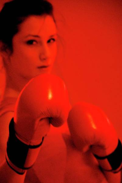 Physical Training Wall Art - Photograph - Woman Boxing In A Gym by Aj Photo/science Photo Library