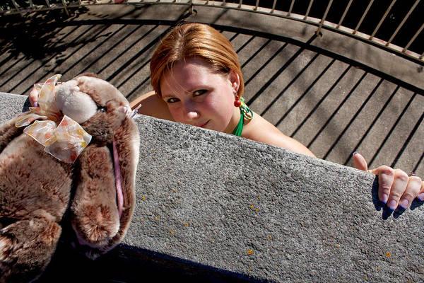 Photograph - Woman Bunny Bars 2011 by James Warren