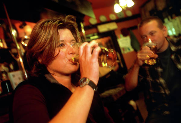 Wall Art - Photograph - Woman Drinking Beer by Jim Varney/science Photo Library