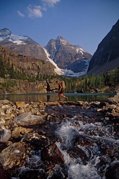 Wall Art - Photograph - Woman Hiking Near Lake, Canada by Whit Richardson