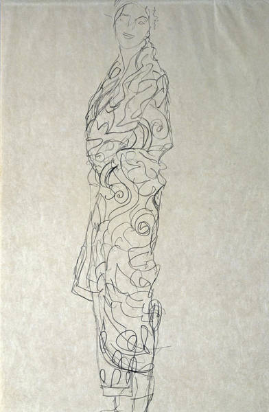 Drawing - Woman In A Kimono by Celestial Images