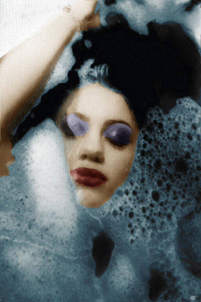 Painting - Woman In Bath Vertical by Tony Rubino