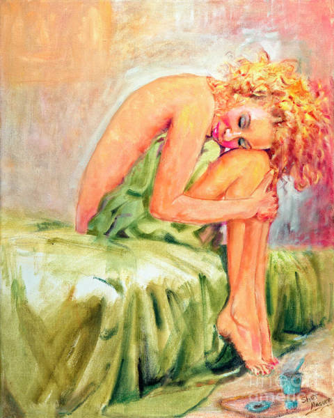 Painting - Woman In Blissful Ecstasy by Sher Nasser