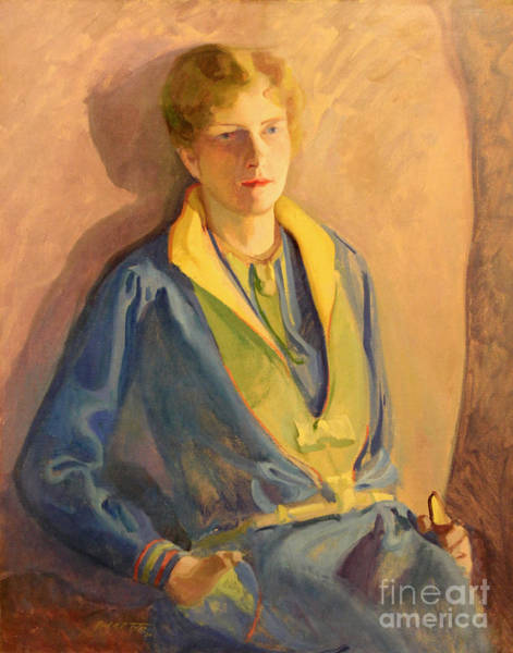 Painting - Woman In Blue 1930 by Art By Tolpo Collection